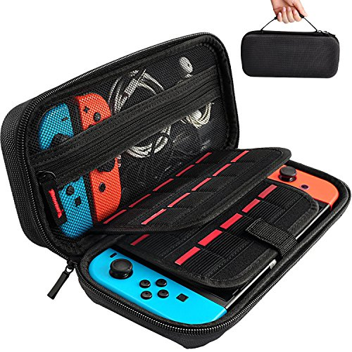 Hestia Goods Switch Carrying Case for Nintendo Switch, 20 Game Cartridge Protective Hard Shell Travels Nintendo Switch Console & Accessories, Carry Case Purse