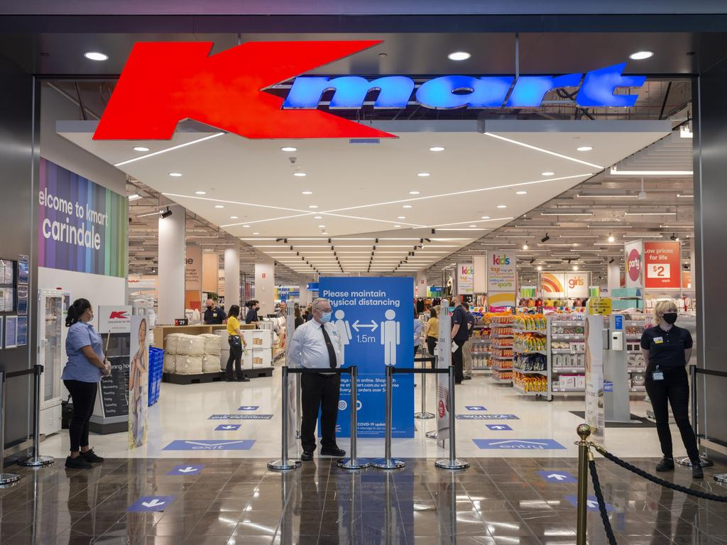 Kmart warns customers to come early.