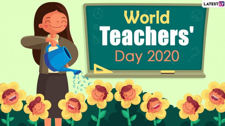 World Teacher's Day Greetings 2020 HD Images and Wallpapers Download Free Online: WhatsApp Stickers, GIF Photos and Messages Wishing Your Teacher