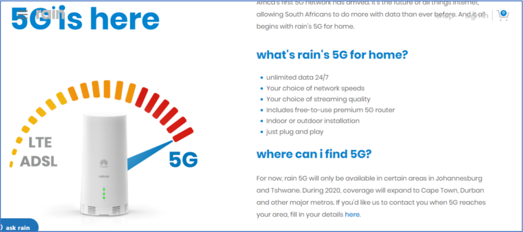 Rain is in trouble for misleading claims about download speed
