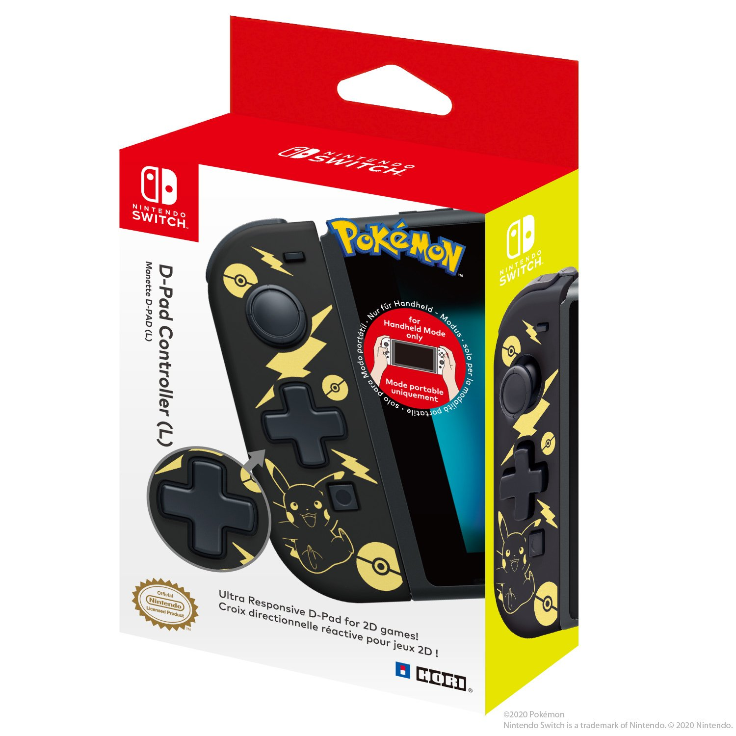 D Pad (Picachu Black & Gold) Package Image