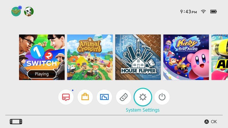 How to copy all screenshots and videos to micro SD card in Nintendo Switch: Navigate to system settings on your home screen and press a