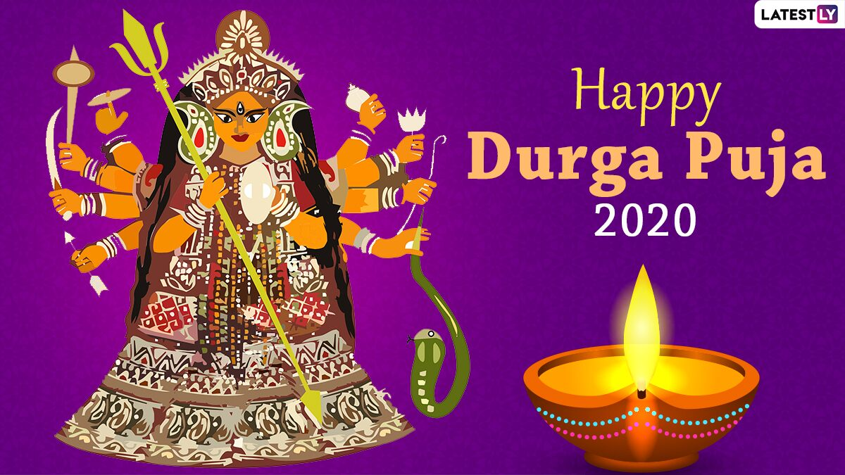 Durga Puja 2020 Images & Pujo HD Wallpapers Download Free Online: Congratulations to Durga Puja with New WhatsApp Stickers and GIF Greetings