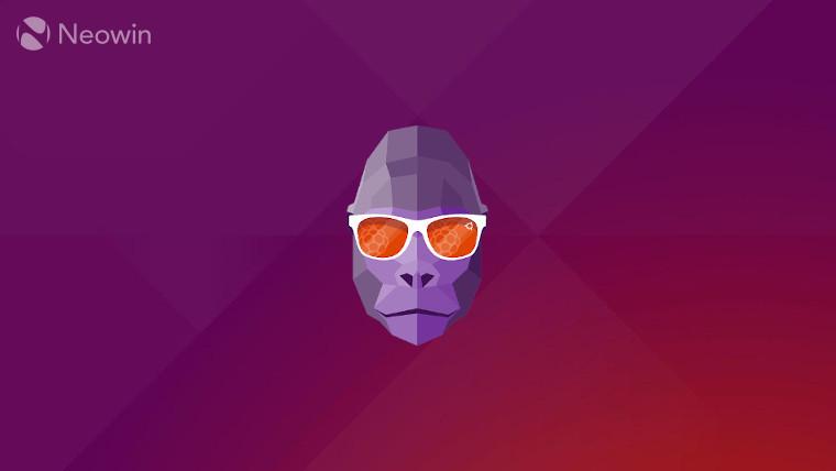 The Groovy Gorilla logo on an Ubuntu background