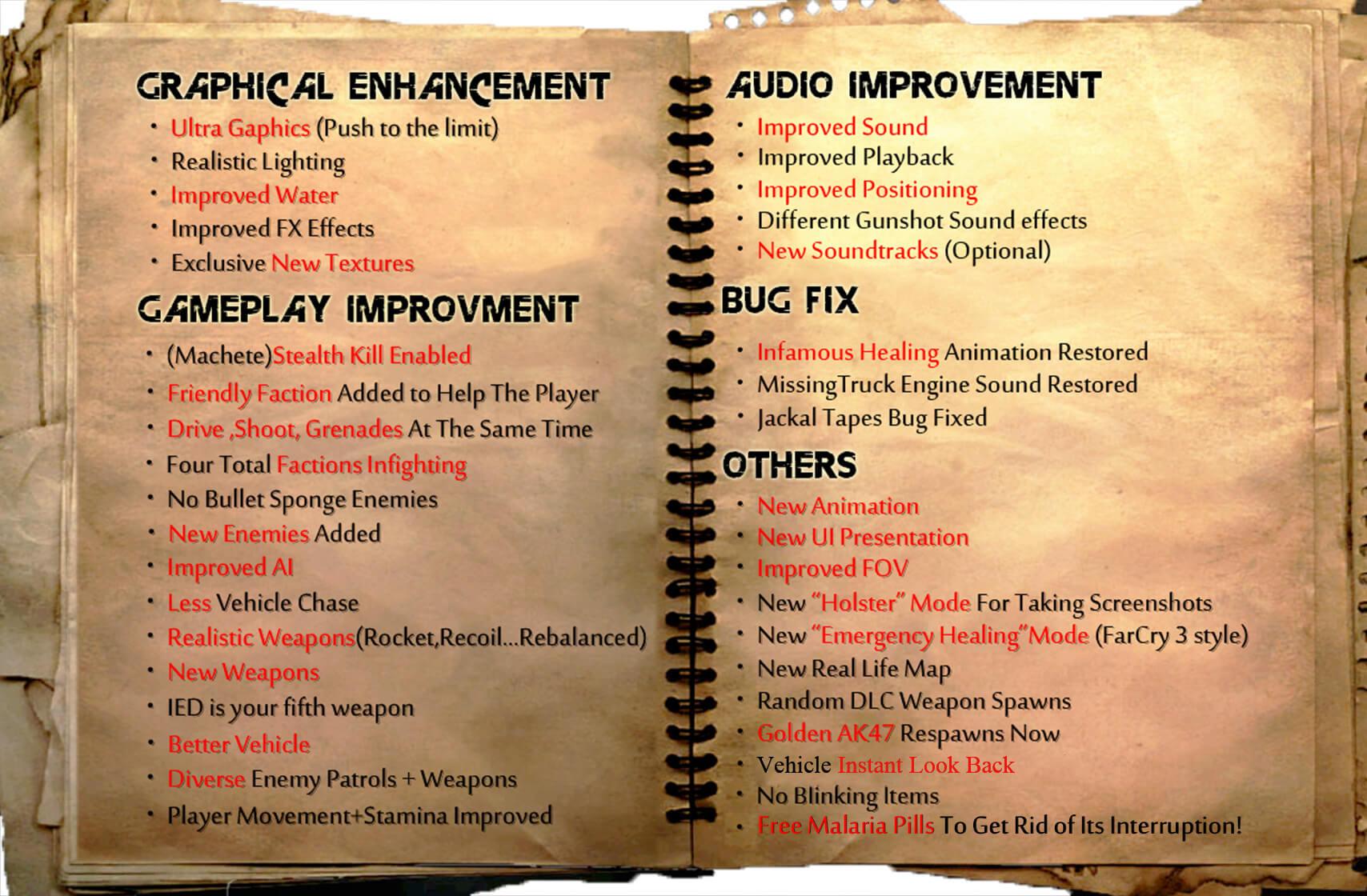 Far Cry 2 remaster mode improvements and changes