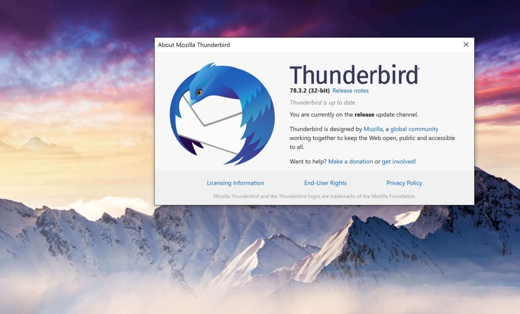 Mozilla Thunderbird 78.3.2 is now available for download