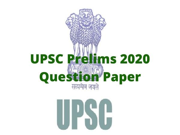 UPSC Prelims 2020 GS Paper 1 Question Paper
