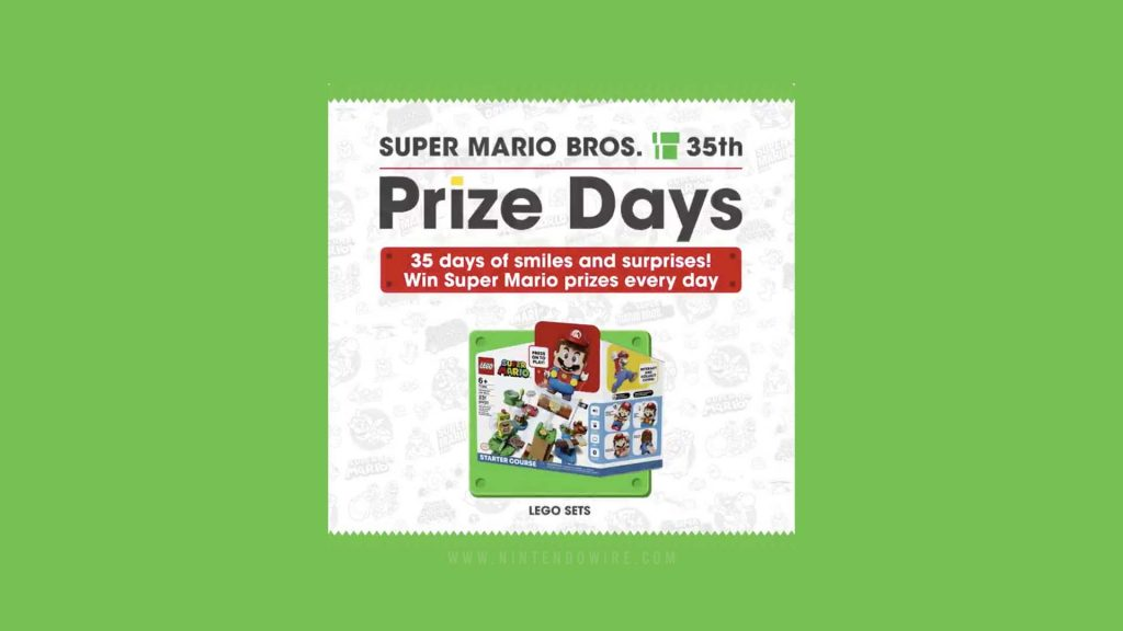 Nintendo is offering daily Super Mario themed gifts for the 35th anniversary of the UK Mario