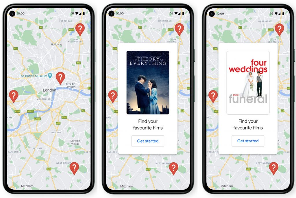 Google Maps launches virtual treasure hunt, offering free downloads of the best British films like Atonement