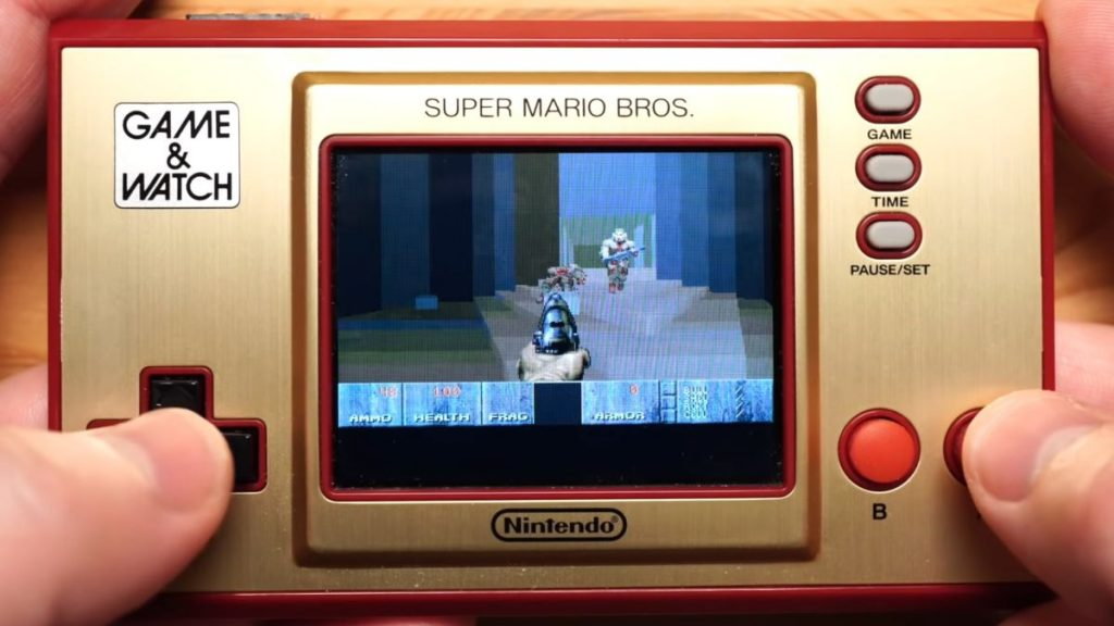 Of course Doom can run on Nintendo's Cam & Watch alarm clock