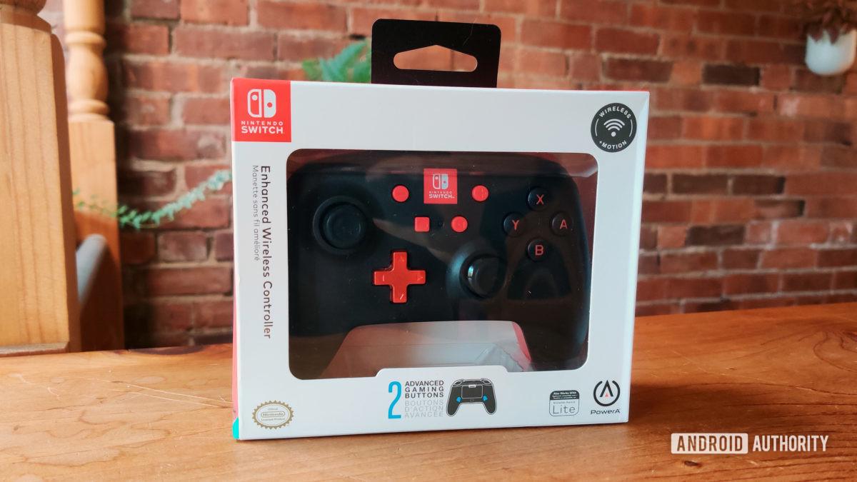 PowerAr enhanced wireless controller for Nintendo Switch in the box