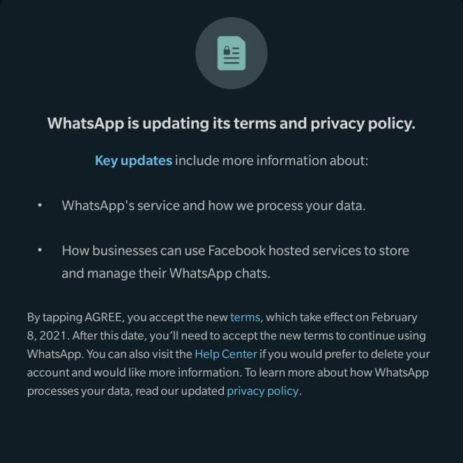 WhatsApp Terms of Service Updated.