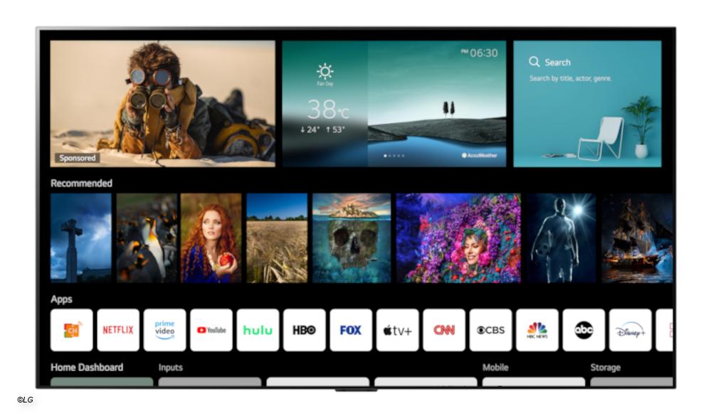 LG: New webOS version for smart TVs