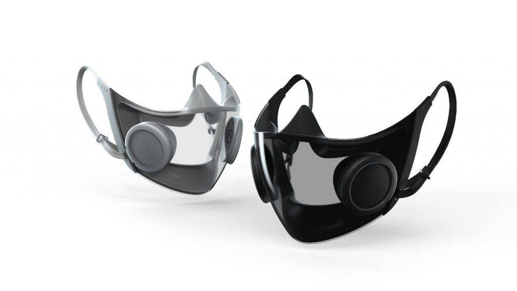 Project Hazel has unveiled a high-tech razor reusable high-tech mask with integrated sterilizer