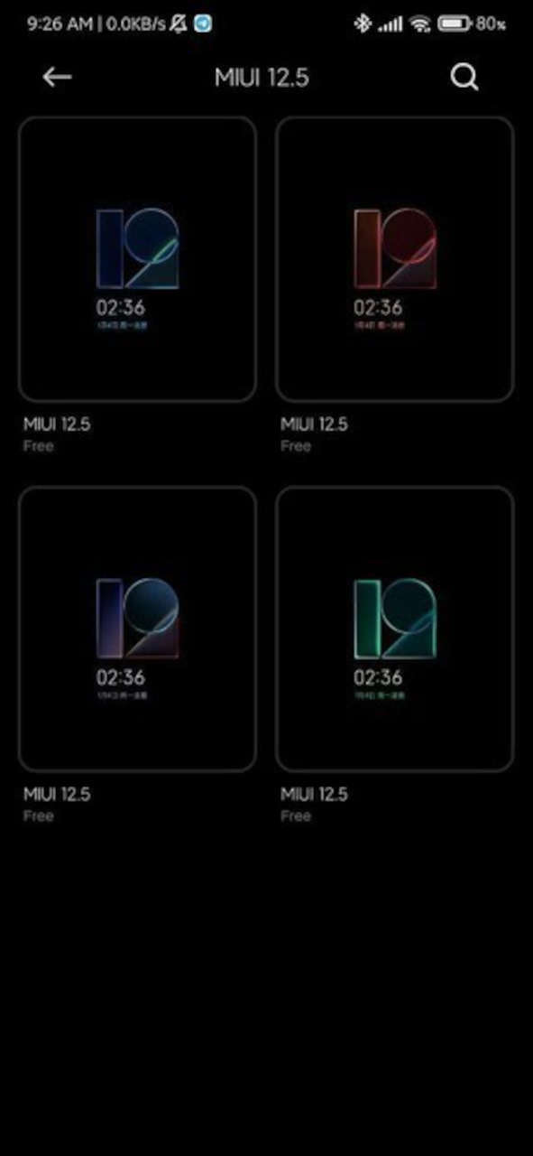 xiaomi miui 12.5 Beta Always on display