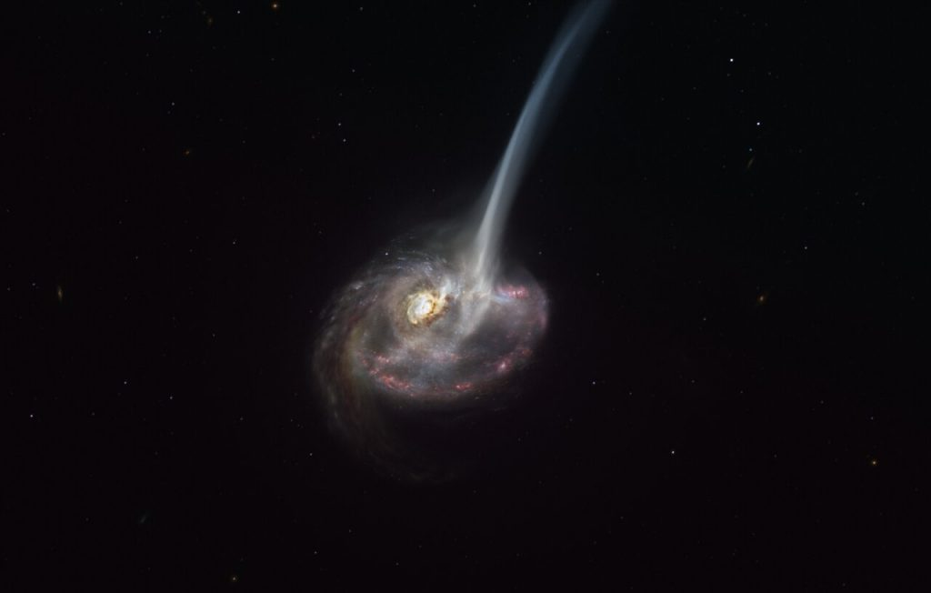 Here is a dying galaxy