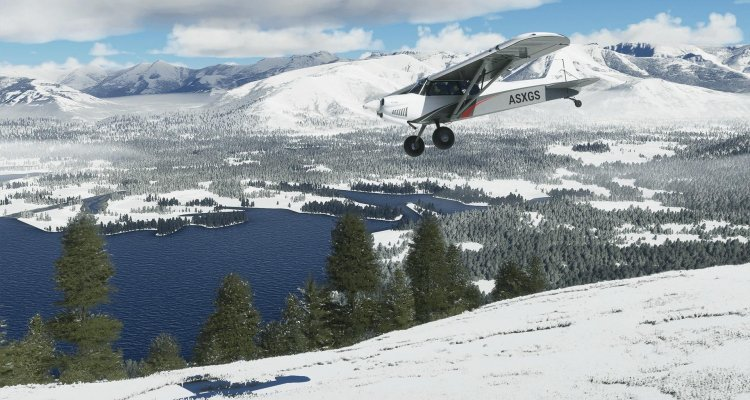 Microsoft Air Simulator, Snow comes in real time