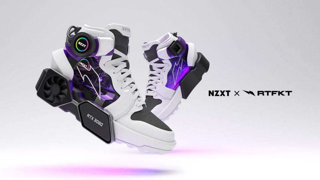 When reality goes beyond the virtual: RTFKT x NZXT sneakers with LCD screen and game management