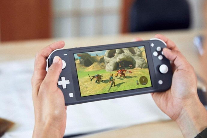 Nintendo Switch Lite Zelda title