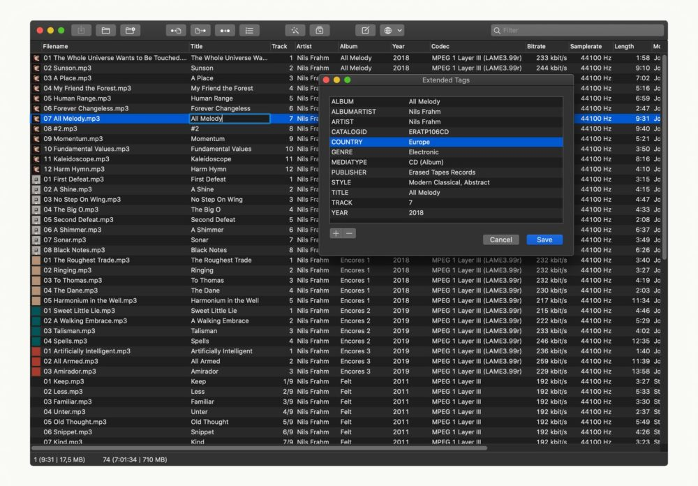 Mp3tag Night Mode The popular audio file Metadata Editor Mp3tag is now available on macOS