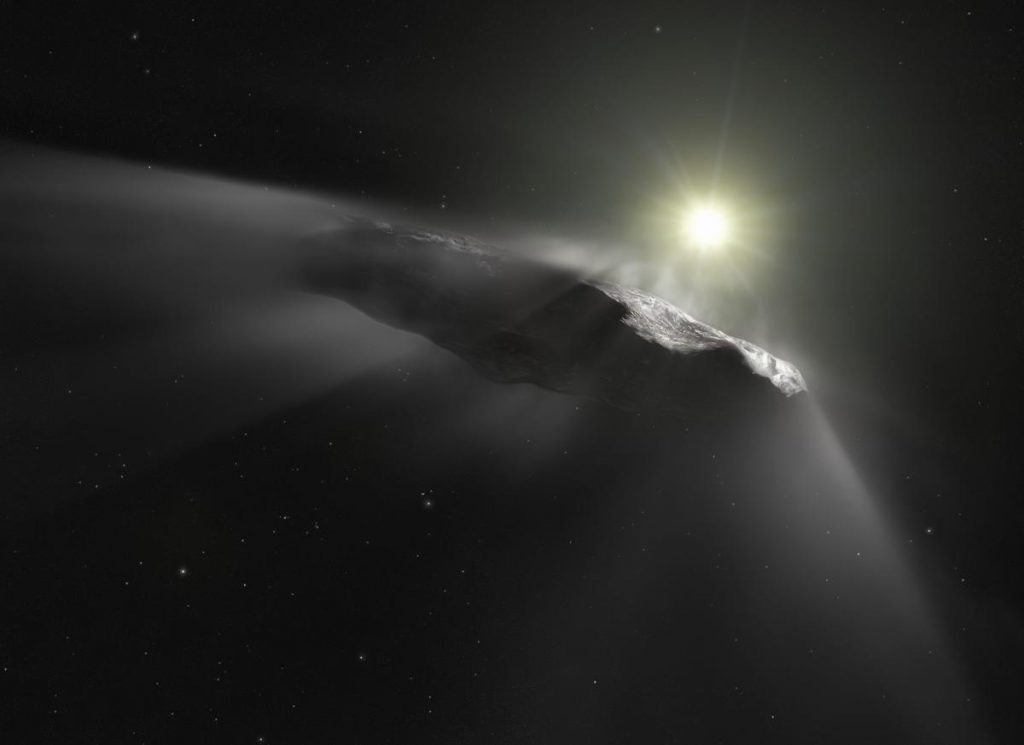 An astronomer believed that an alien study had grazed the Earth