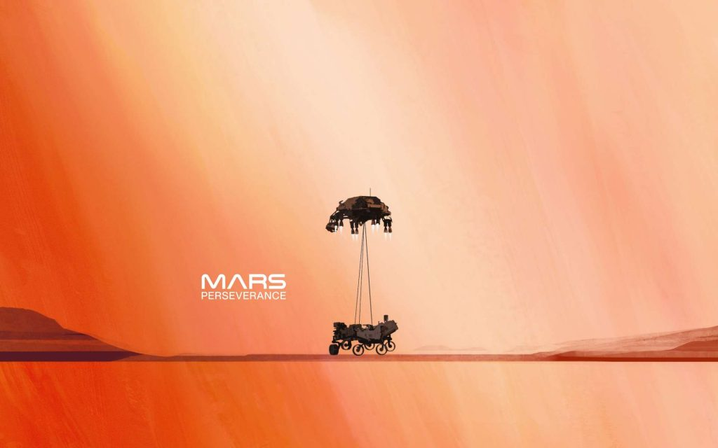 Just like you are on Mars: the landing of perseverance in the reality of growing up at home or outside!