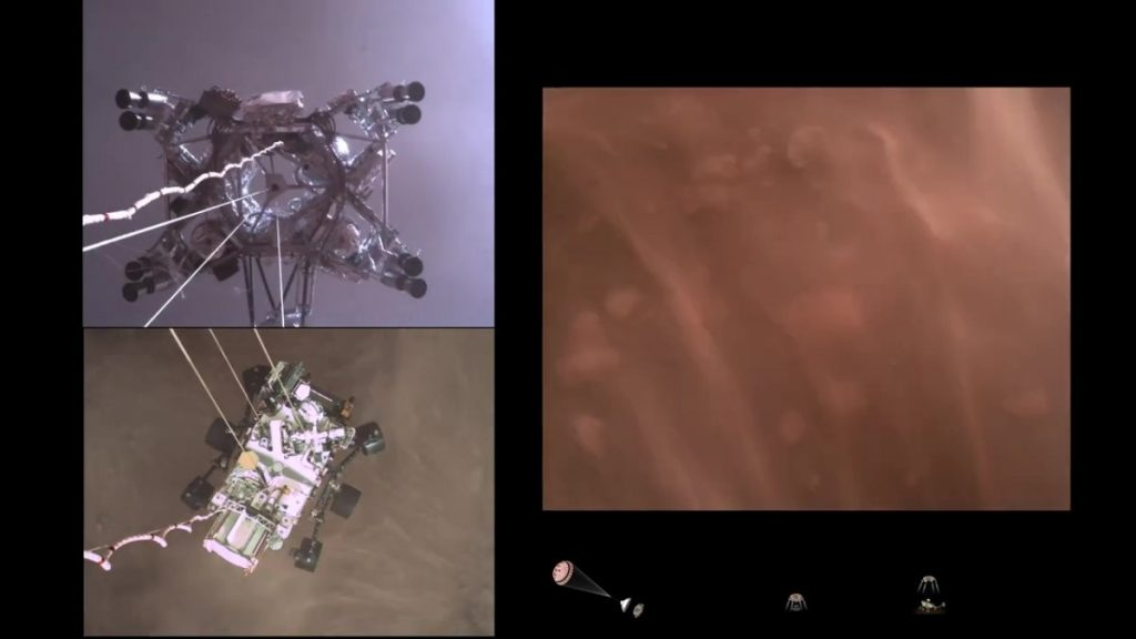 Mars Rover Perseverance: An interesting video of the landing, photos and sounds