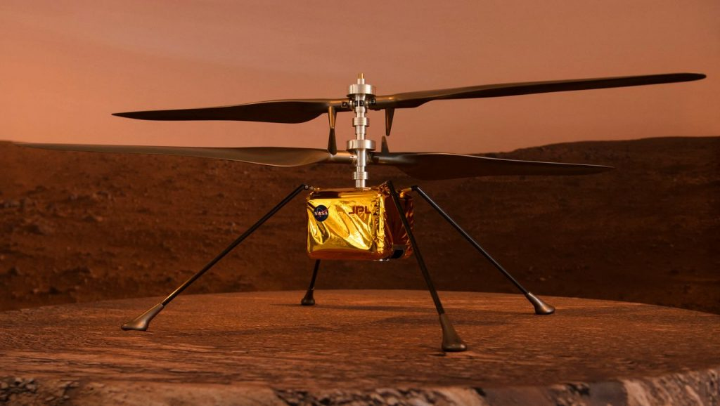 """Mars mission: first helicopter flight to another planet - with """"ingenuity"""" drone"""