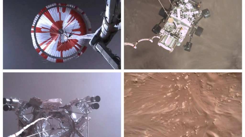 "NASA rover ""diligence"" aired the first videos of the historic Mars"