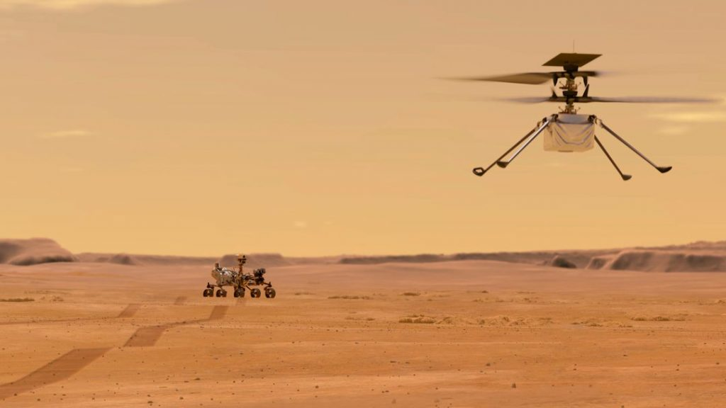 """The mini helicopter reports """"ingenuity"""" for the first time from Mars"""