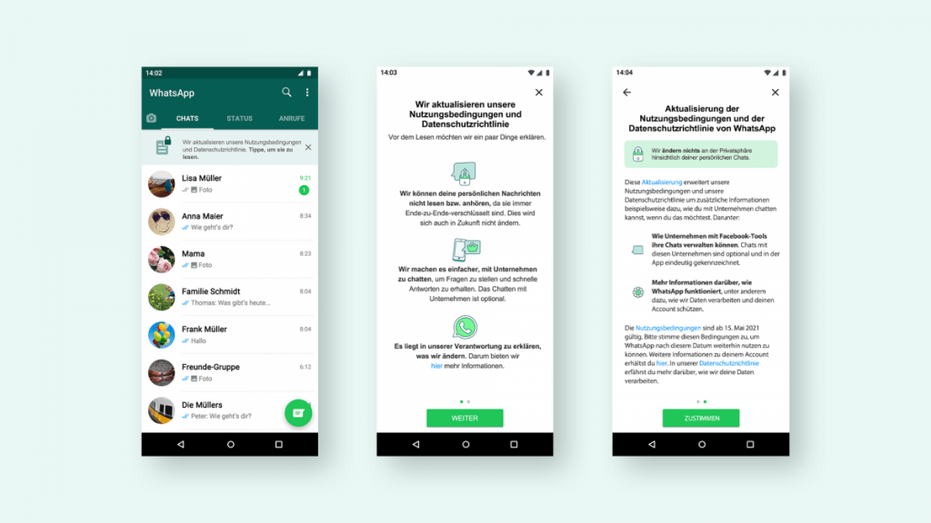 WhatsApp and User Data: A Campaign for New Terms of Use