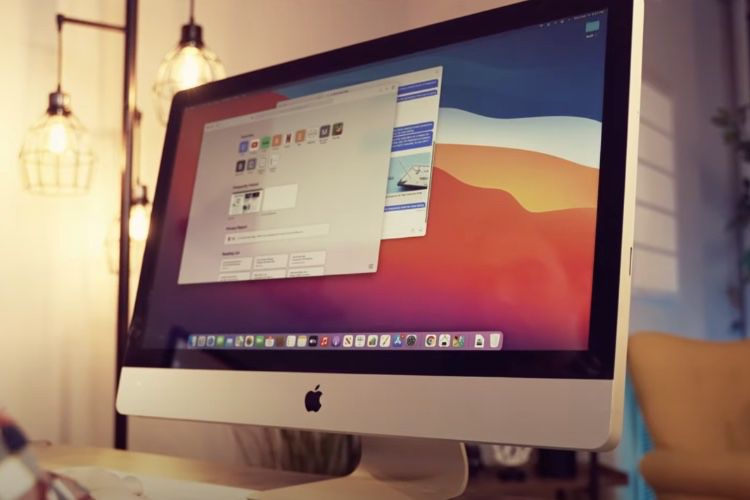 Here is the iMac M1 (almost)!