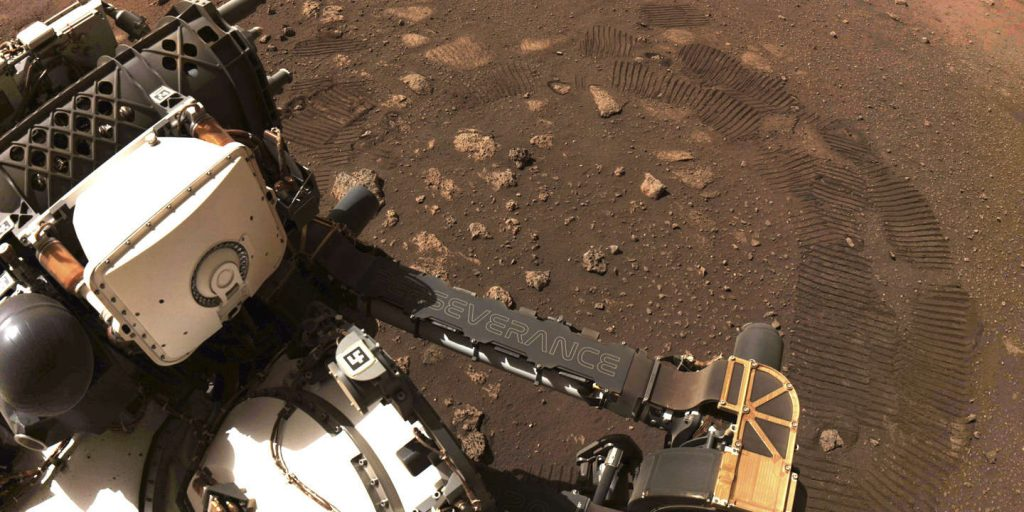 The first turns of the wheel on Mars to the rover of perseverance