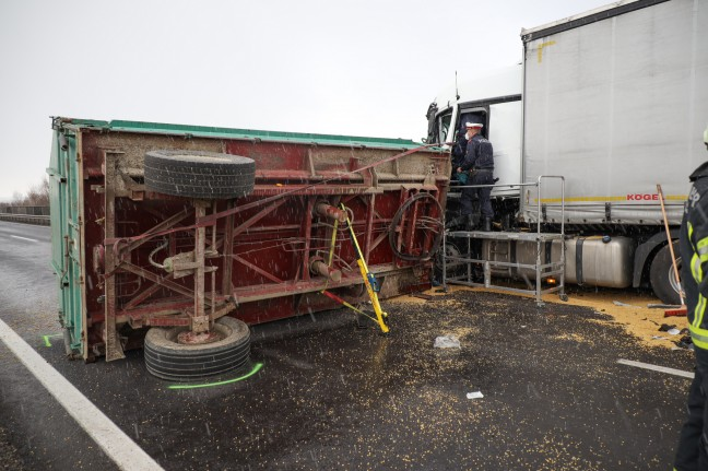 Serious Injury: Truck semitrailer collides head-on with tractor trailer at Weiner Strait near NS