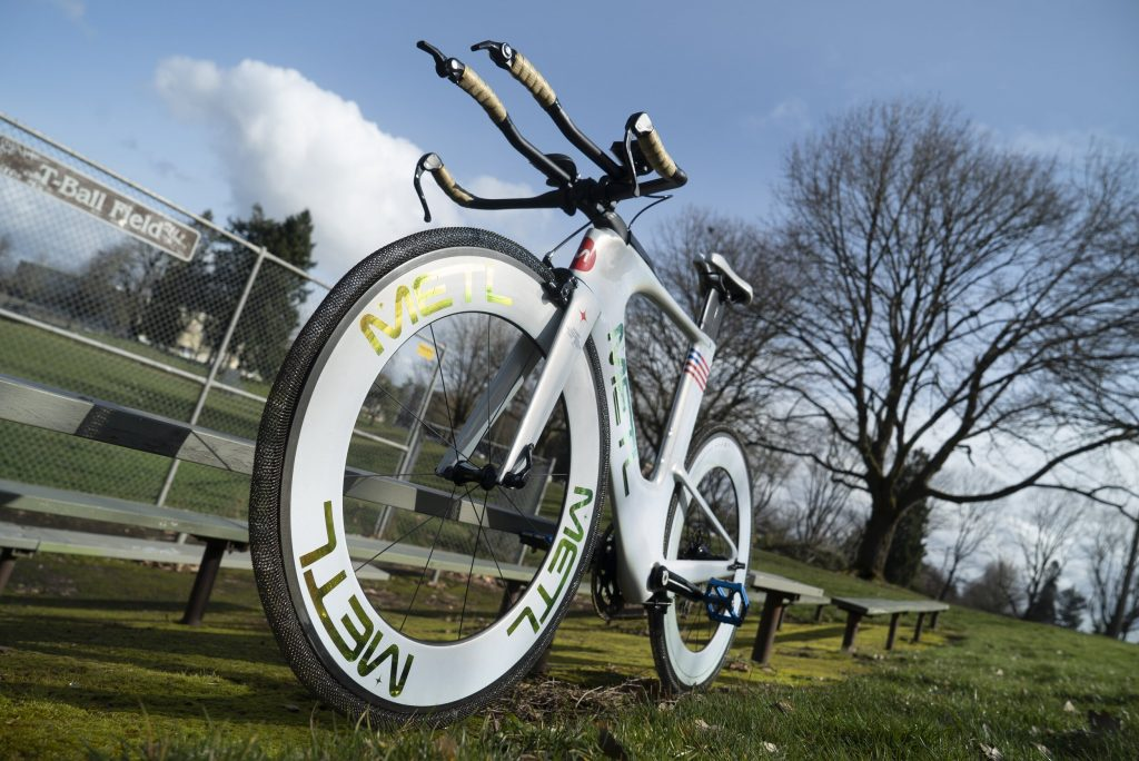 Metal: This airless bike tire features NASA technology