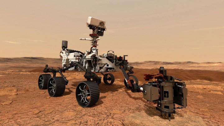 Der NASA-Rover Perseverance (picture alliance / Newscom