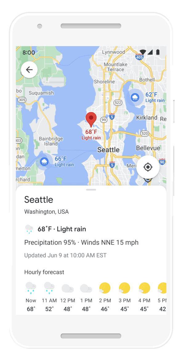 Wet Google Map