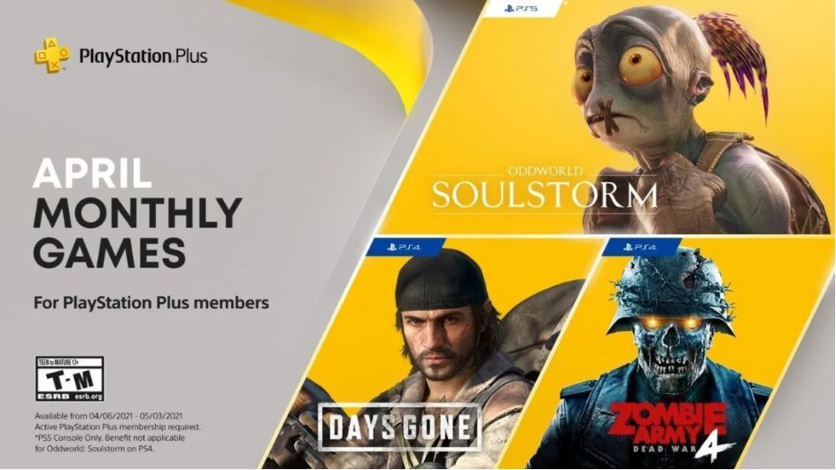 PlayStation Plus: Games in April 2021!
