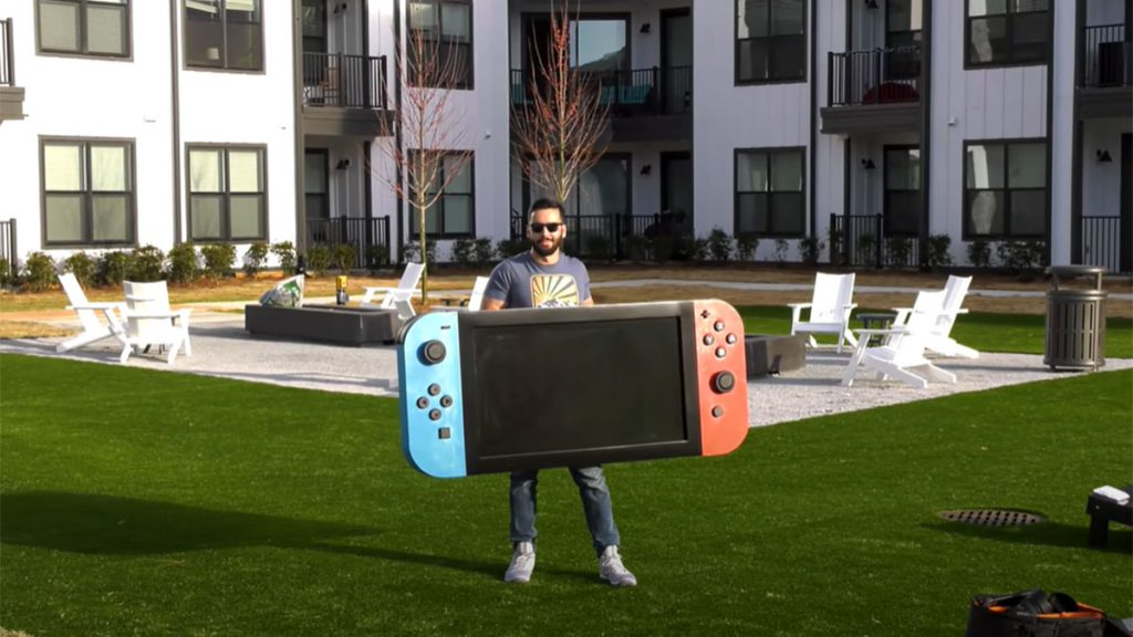 The world's largest functional Nintendo Switch is here