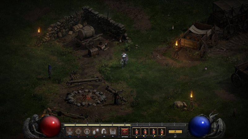 Diablo II Resurrection: The introduction of the controller is a very nice change