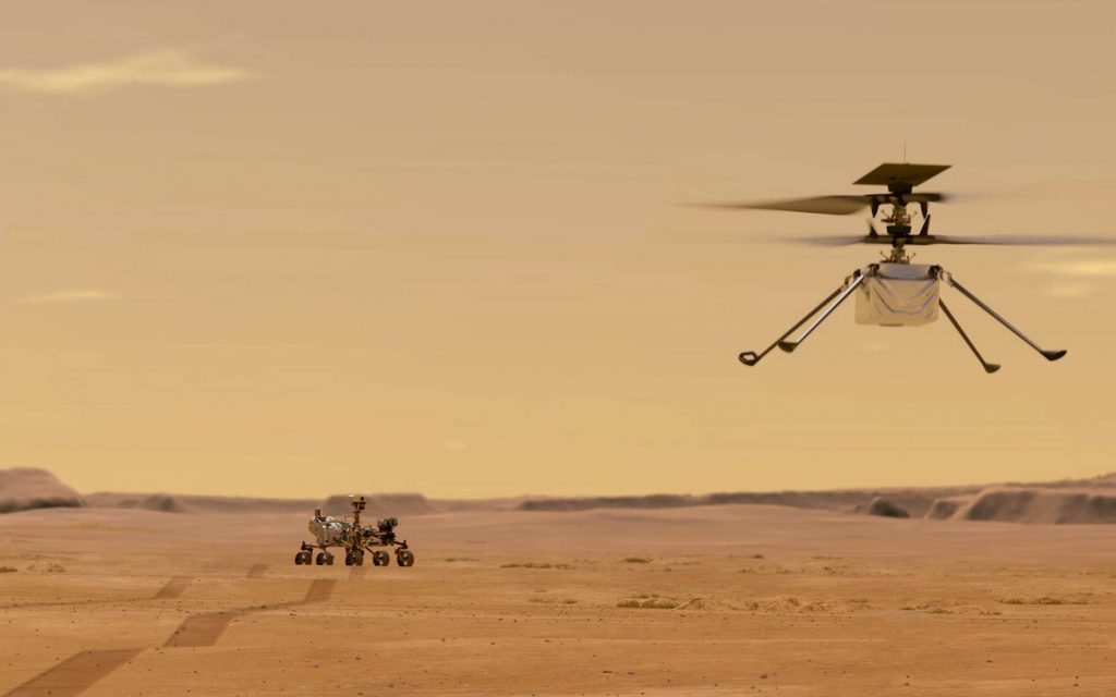 An exercise from NASA to build a paper Mars helicopter like Ingenuity