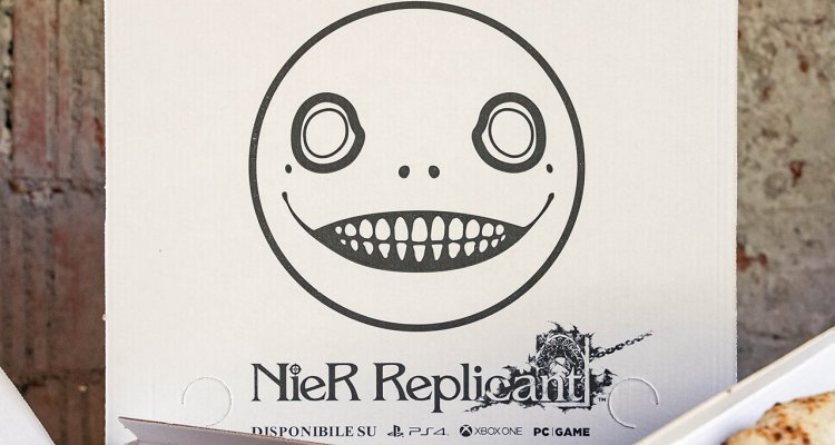 NieR Replicant ver.1.22474487139, Milan - Special pizza for the game available at Nerd4.life