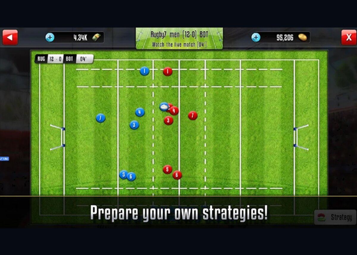 Rugby Sevens Manager is one of the games available for download on Android