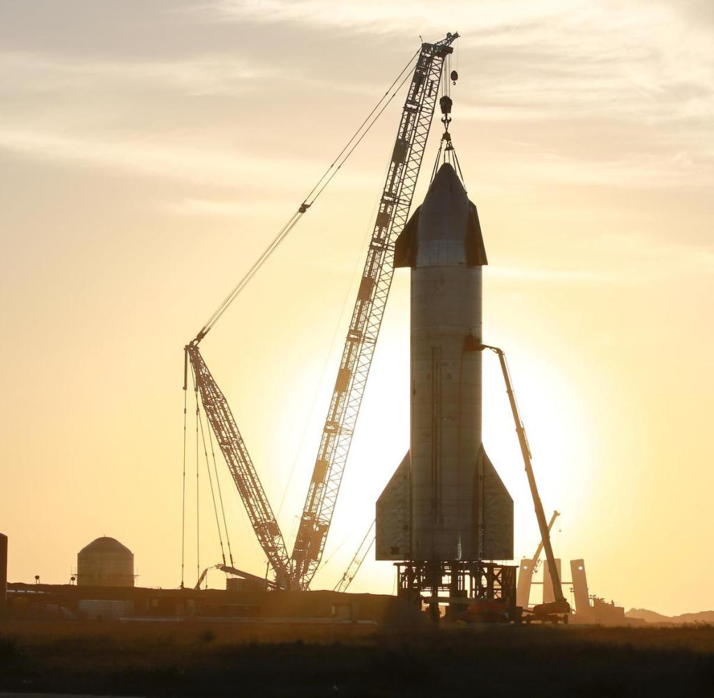 The Starship SN-11 will be spotted at SpaceX's South Texas launch site in Boca Chicas, Texas at sunrise on March 9th. (Photo by Reginald Madeleine / Norphoto)