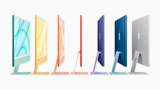 The iMac is characterized by a breathtaking, exceptionally slim, completely new design that almost disappears with a distinctive side profile.
