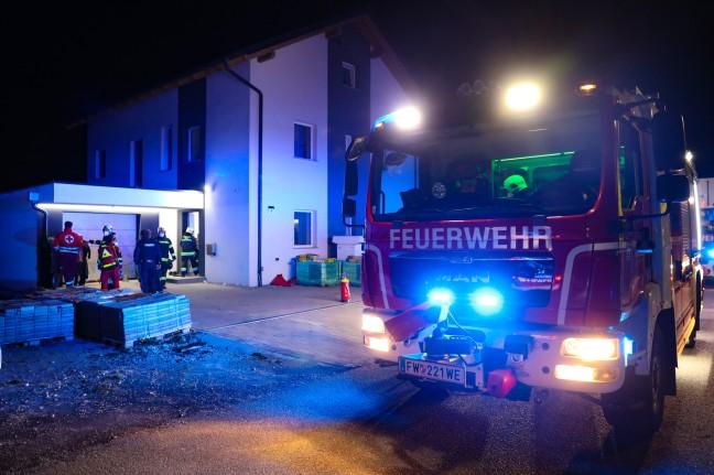 Fire in the basement of a house in Wells-Schaefweiss