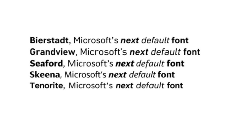 Pierstadt: Office users can vote in the new standard fonts