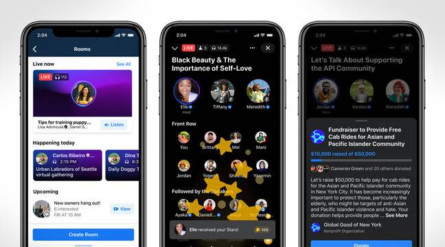 Facebook puts the gallery on audio and reveals its response to Clubhouse