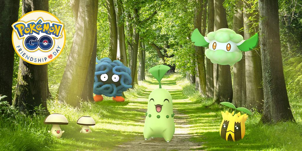 Friendly day at Pokemon GO reveals Pokemon • Nintendo Connect numerous plants
