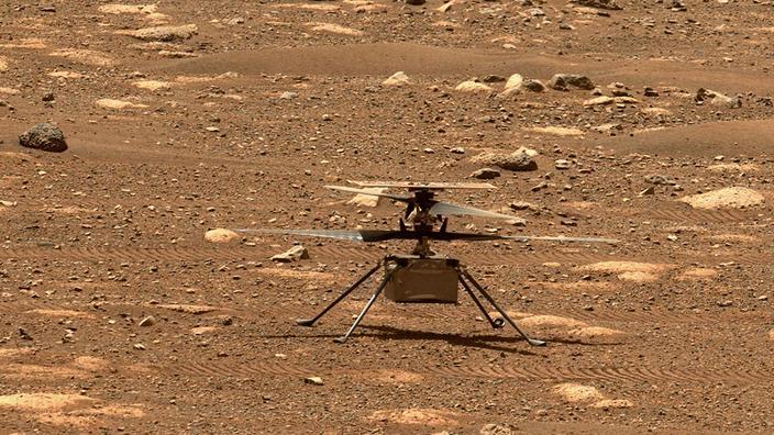 Le mini-hélicoptère Ingenuity.